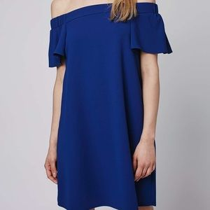 Topshop Dresses - Off the shoulder blue dress
